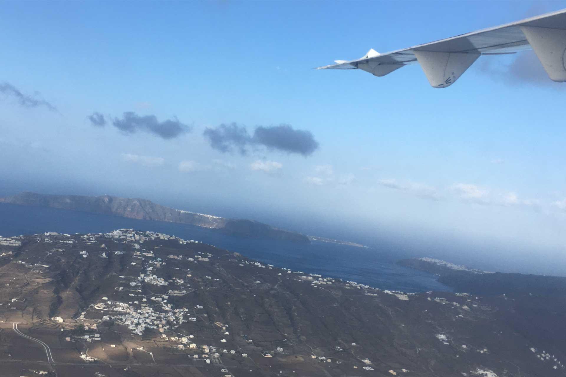 Santorini Landeanflug